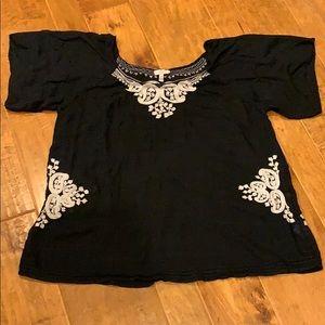 Joie black silk top